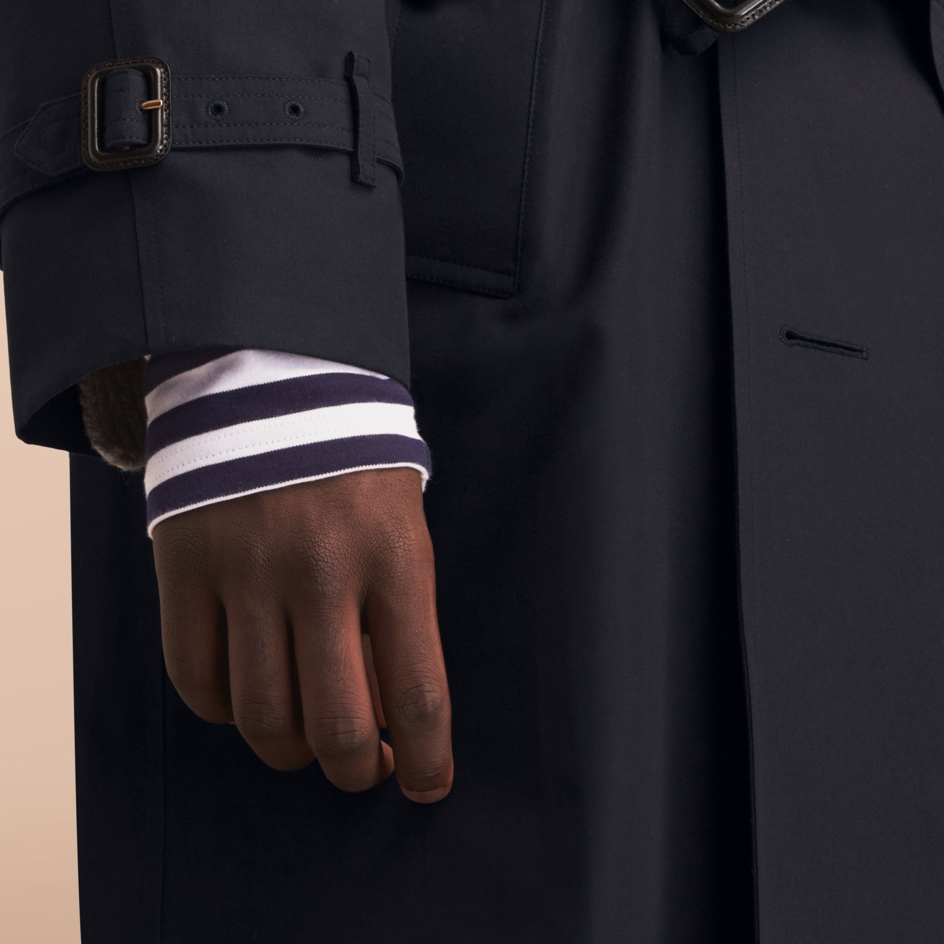 The Westminster – Long Heritage Trench Coat in Navy - gallery image 7