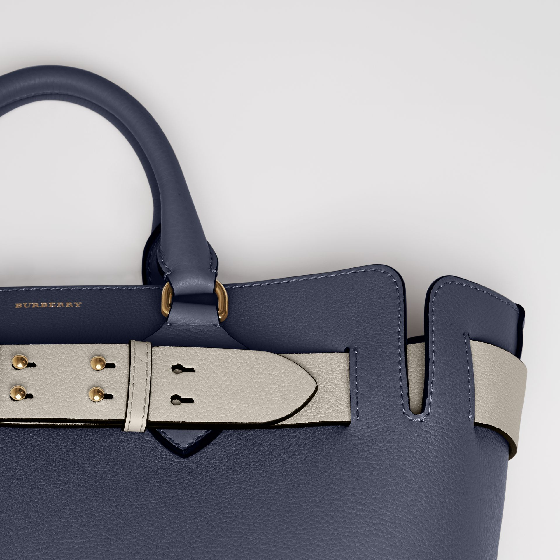 The Medium Leather Belt Bag in Regency Blue - Women | Burberry - gallery image 1