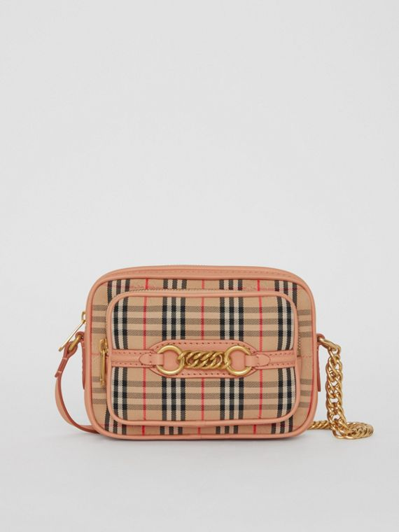 The 1983 Check Link Camera Bag in Peach