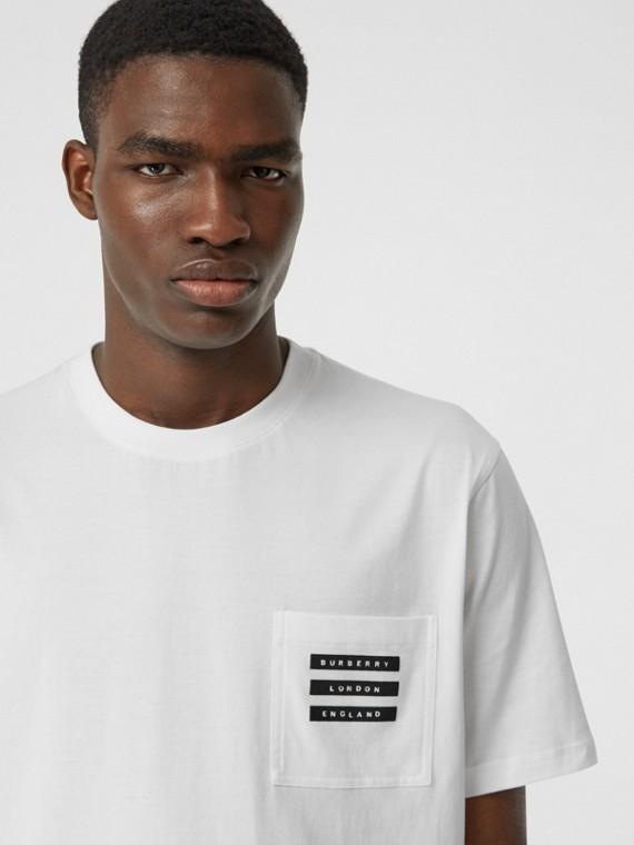 Camiseta en algodón con estampado retro (Blanco)