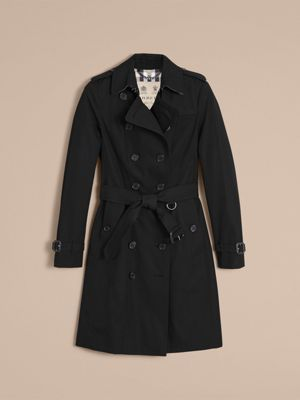 The Sandringham – Long Heritage Trench Coat in Black - Women ...