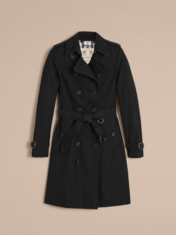 The Sandringham – Long Heritage Trench Coat in Black - Women | Burberry Canada - cell image 3