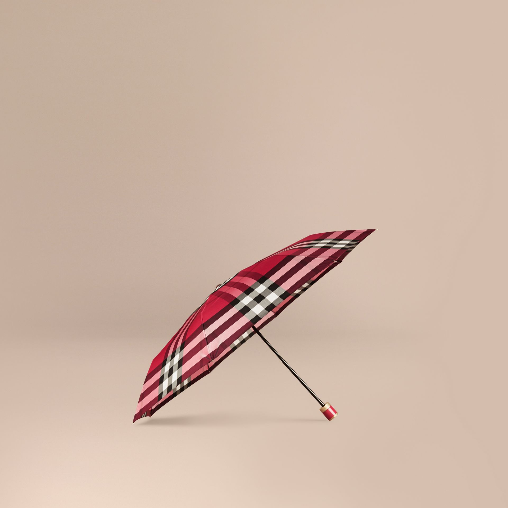 Fuchsia pink Check Folding Umbrella Fuchsia Pink - gallery image 1