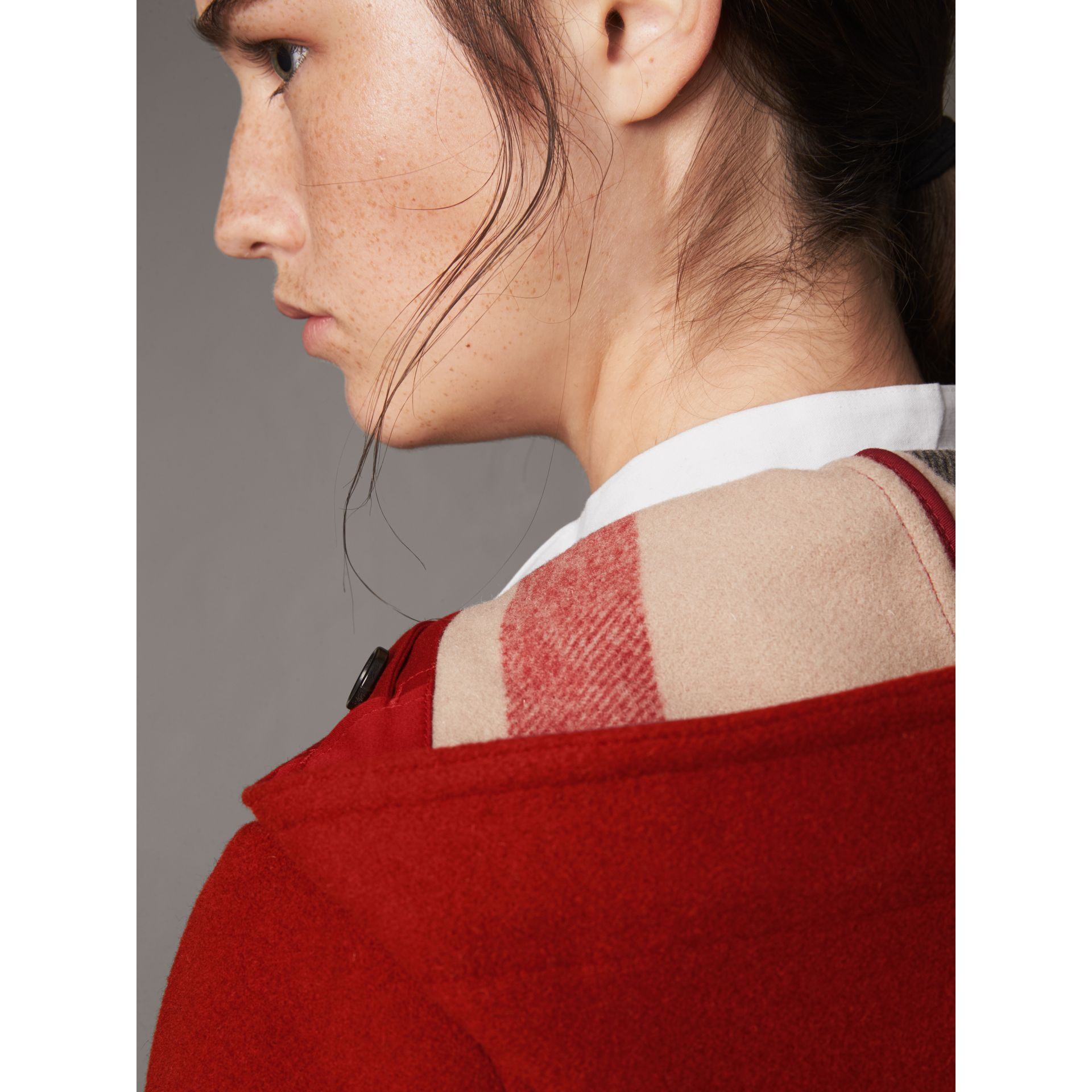 The Mersey Duffle Coat in Parade Red - Women | Burberry United Kingdom - gallery image 4