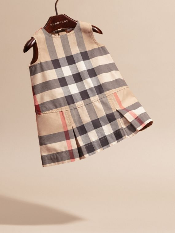 Washed Check Cotton Dress in New Classic | Burberry - cell image 2