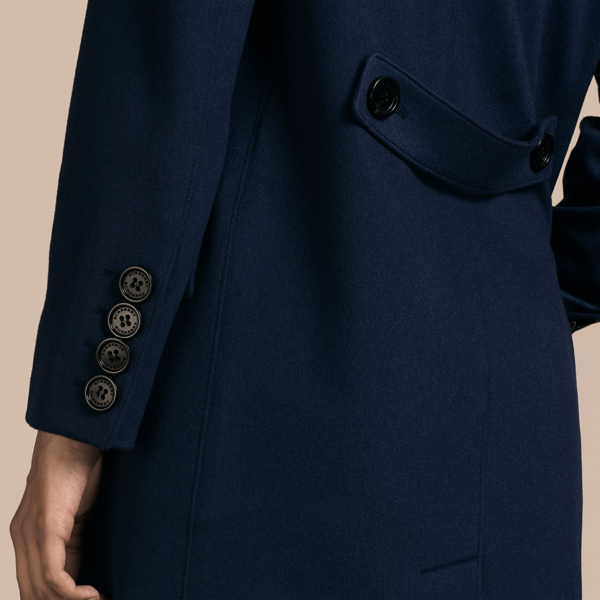 Bright navy Cashmere Tailored Coat Bright Navy - gallery image 6