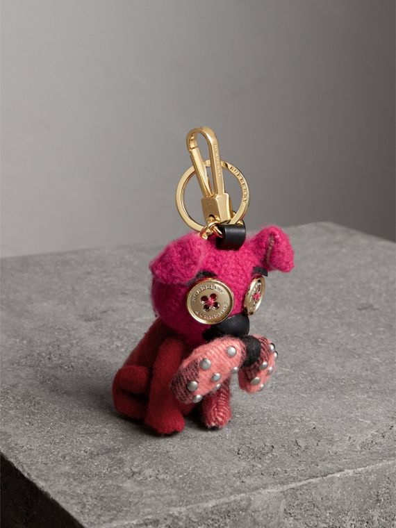 Seymour The Bull Dog Cashmere Charm in Parade Red