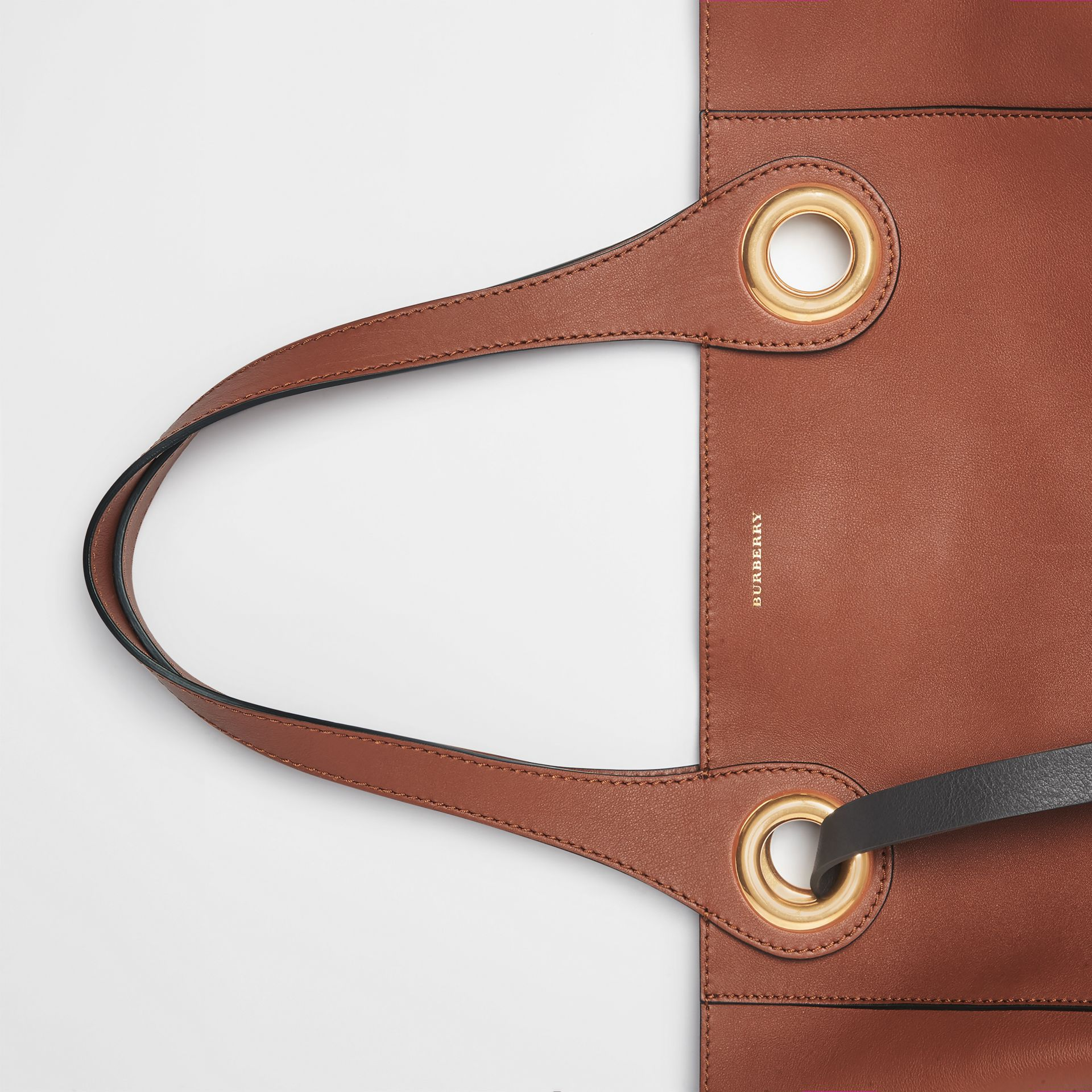 The Leather Grommet Detail Tote in Tan - Women | Burberry - gallery image 1
