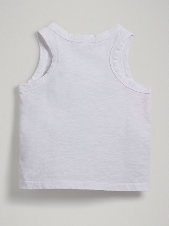 Postcard Print Cotton Jersey Vest in White - Girl | Burberry - cell image 3