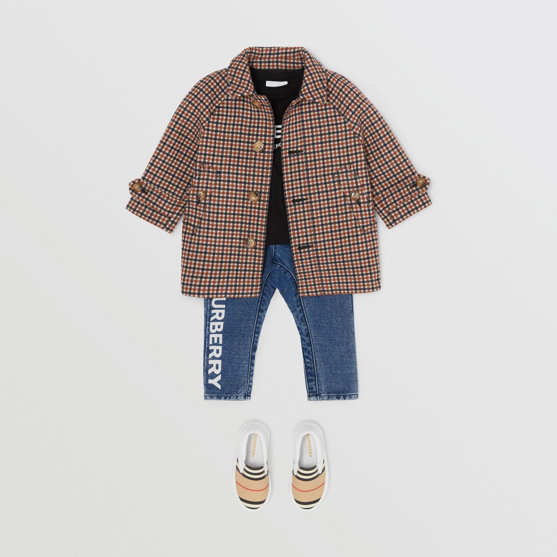 Check Wool Coat in Rust Brown - Children | Burberry - gallery image 2