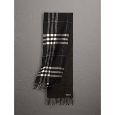 a0eb7be2c8 get burberry inspired scarf reversible metallic check cashmere scarf in  black burberry united states gallery image