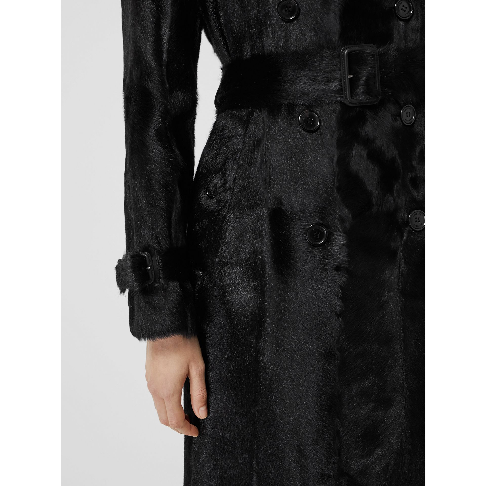 Goat Trench Coat in Black - Women | Burberry - gallery image 5