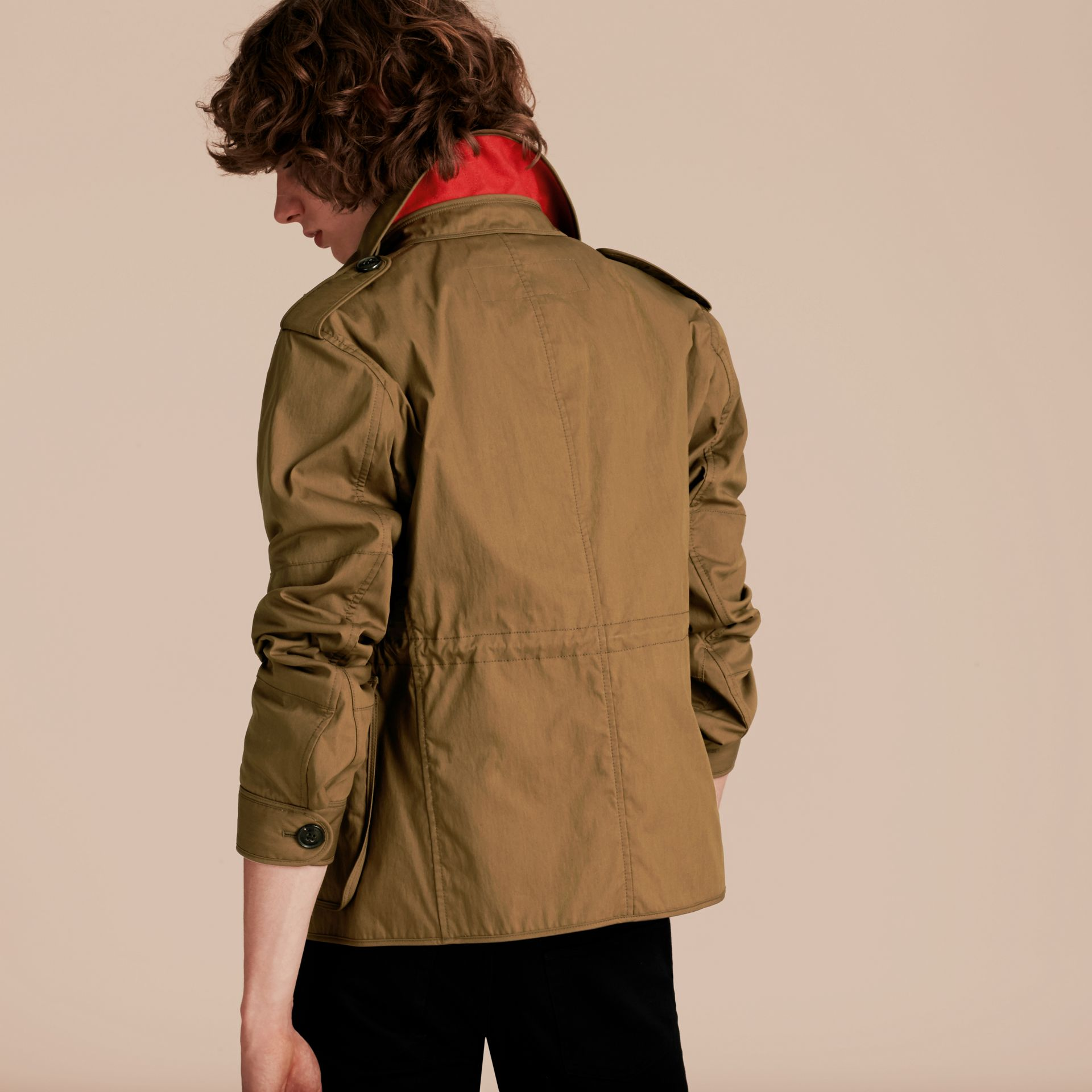 Military khaki Utility Pocket Field Jacket - gallery image 3