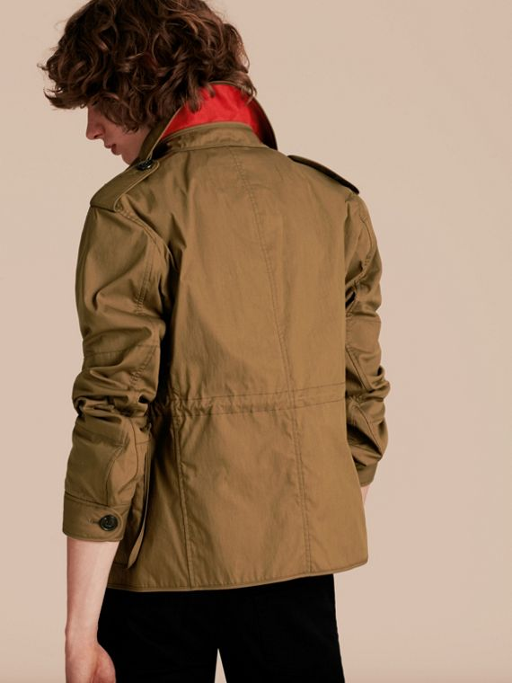 Military khaki Utility Pocket Field Jacket - cell image 2
