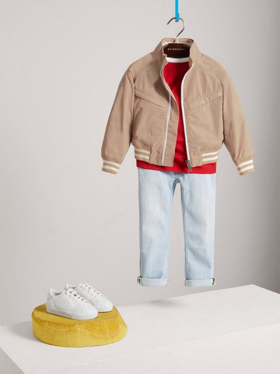 Lightweight Bomber Jacket in Stone - Boy | Burberry - cell image 2
