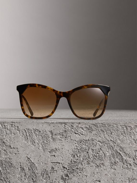 Tortoiseshell Square Frame Sunglasses in Brown - Women | Burberry Australia - cell image 2