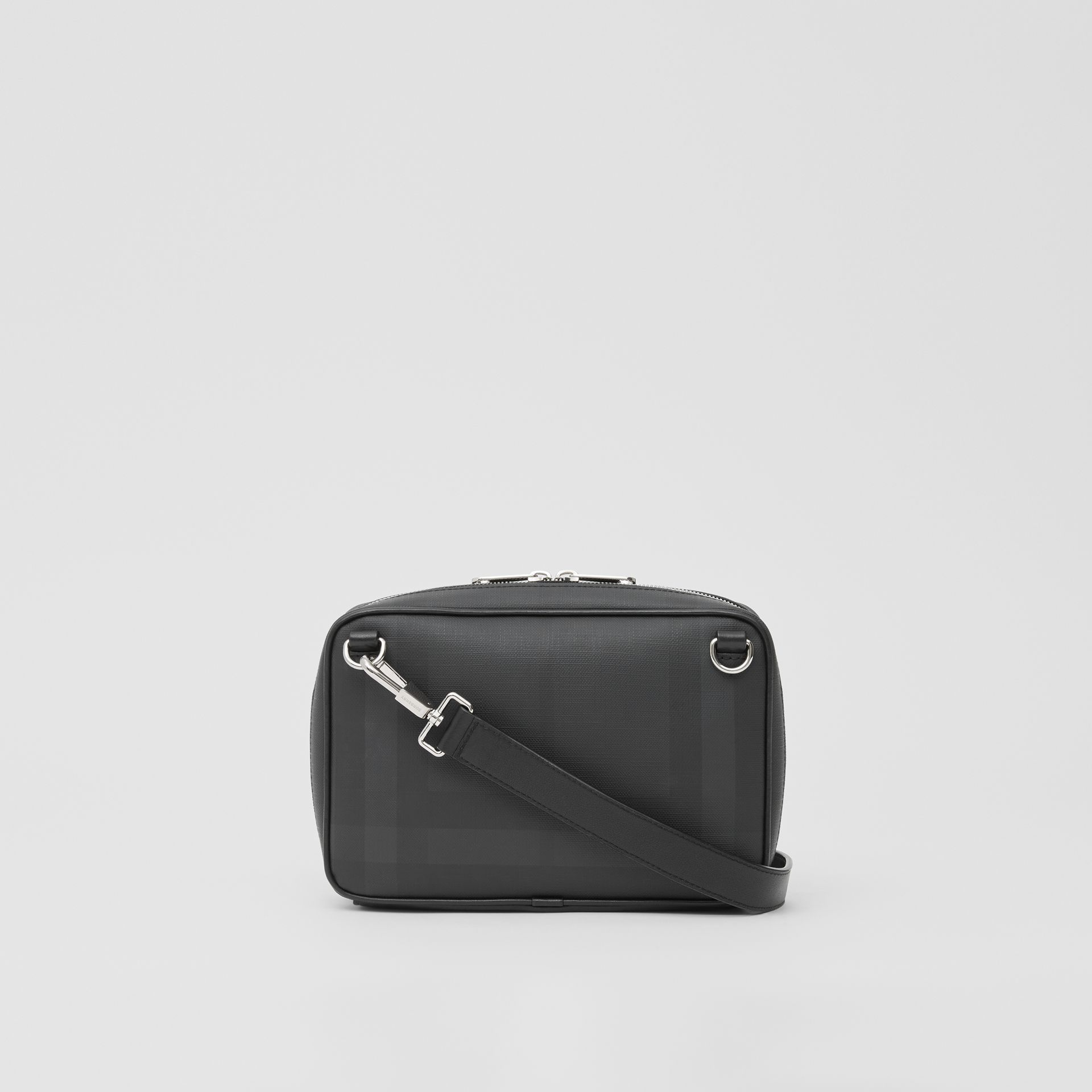 Logo Graphic London Check Crossbody Bag in Dark Charcoal - Men | Burberry - gallery image 7