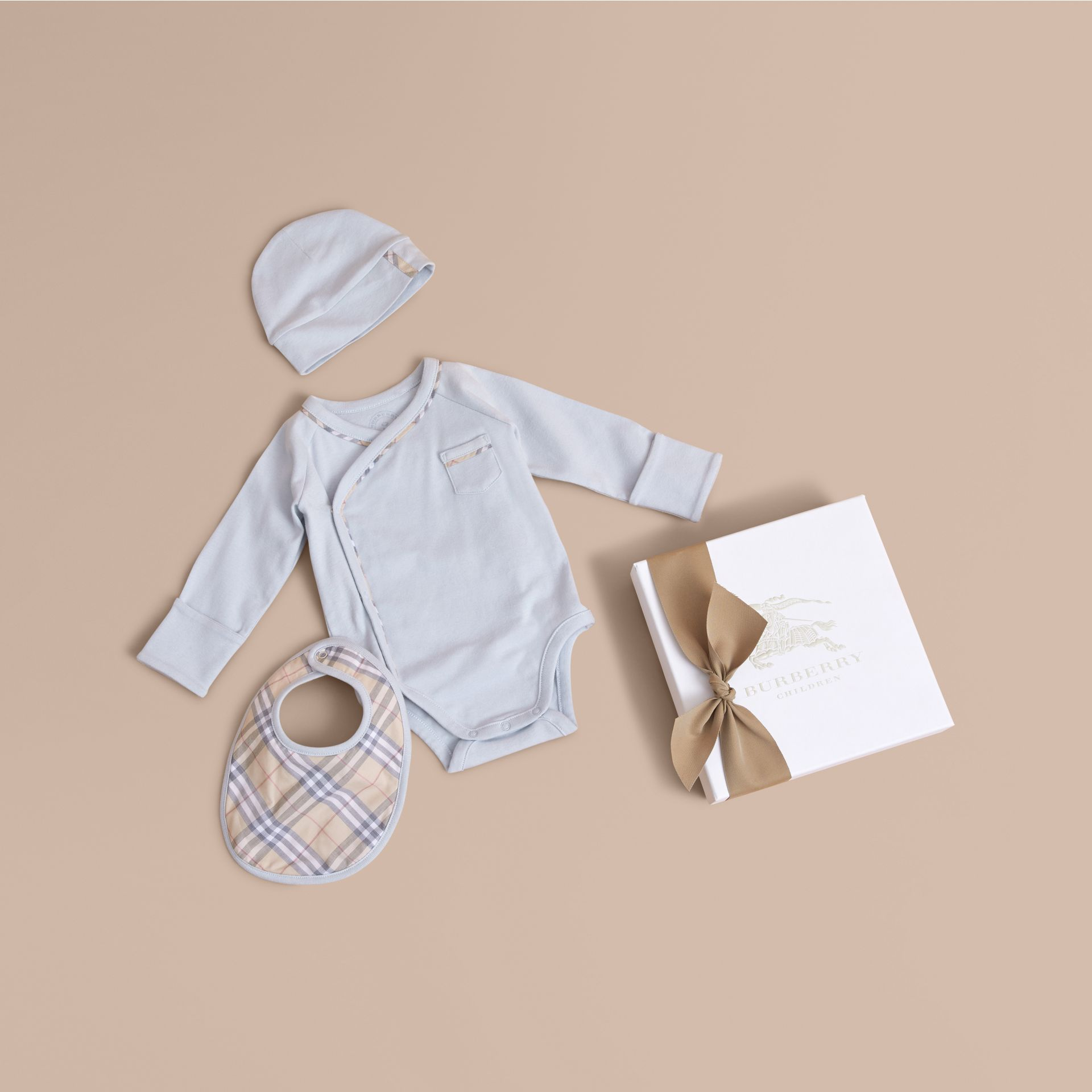 Cotton Three-piece Baby Gift Set - gallery image 1
