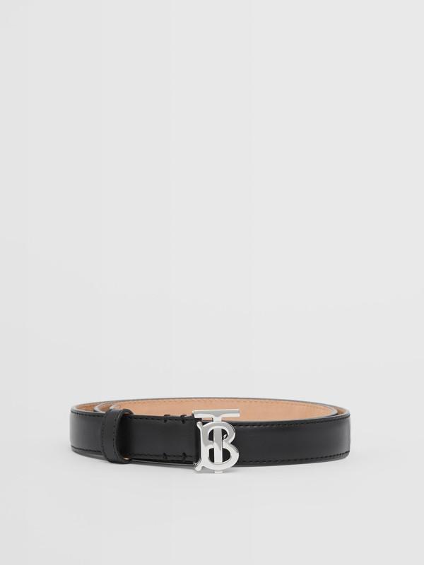 Monogram Motif Leather Belt in Black/palladio - Women | Burberry Canada - cell image 3