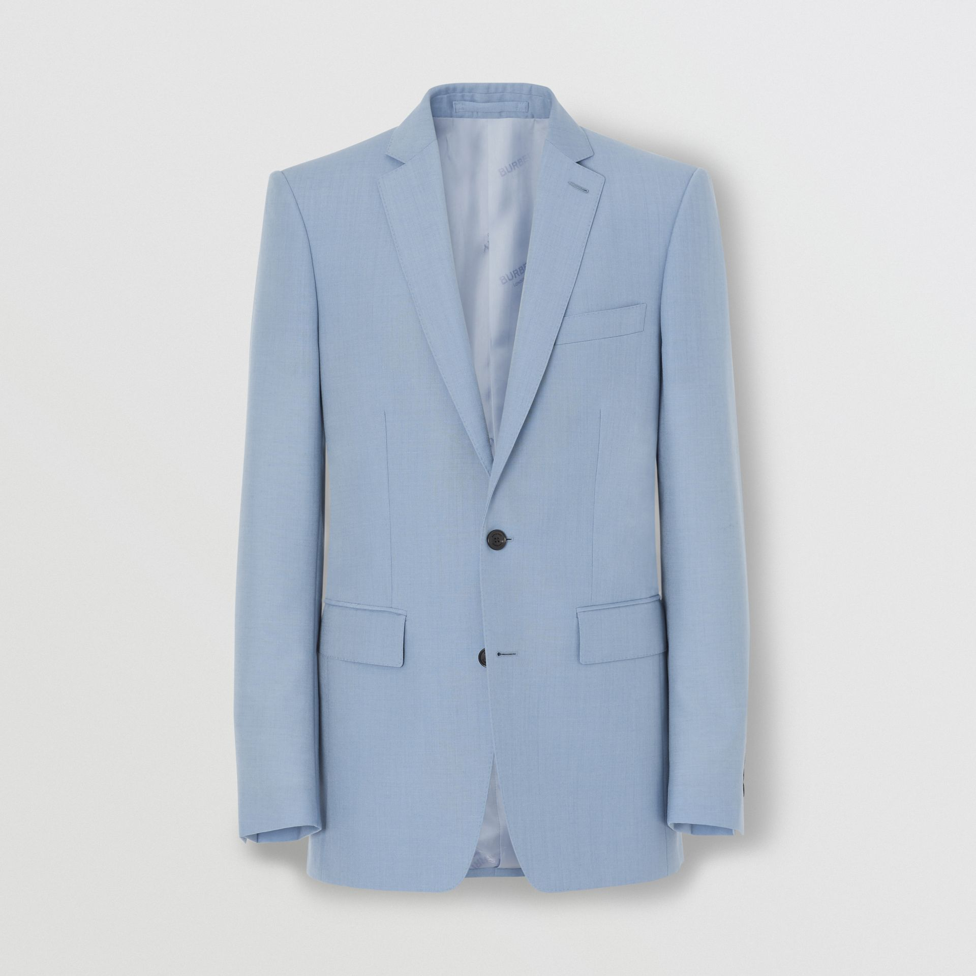 Classic Fit Wool Mohair Tailored Jacket in Pale Blue - Men | Burberry - gallery image 2