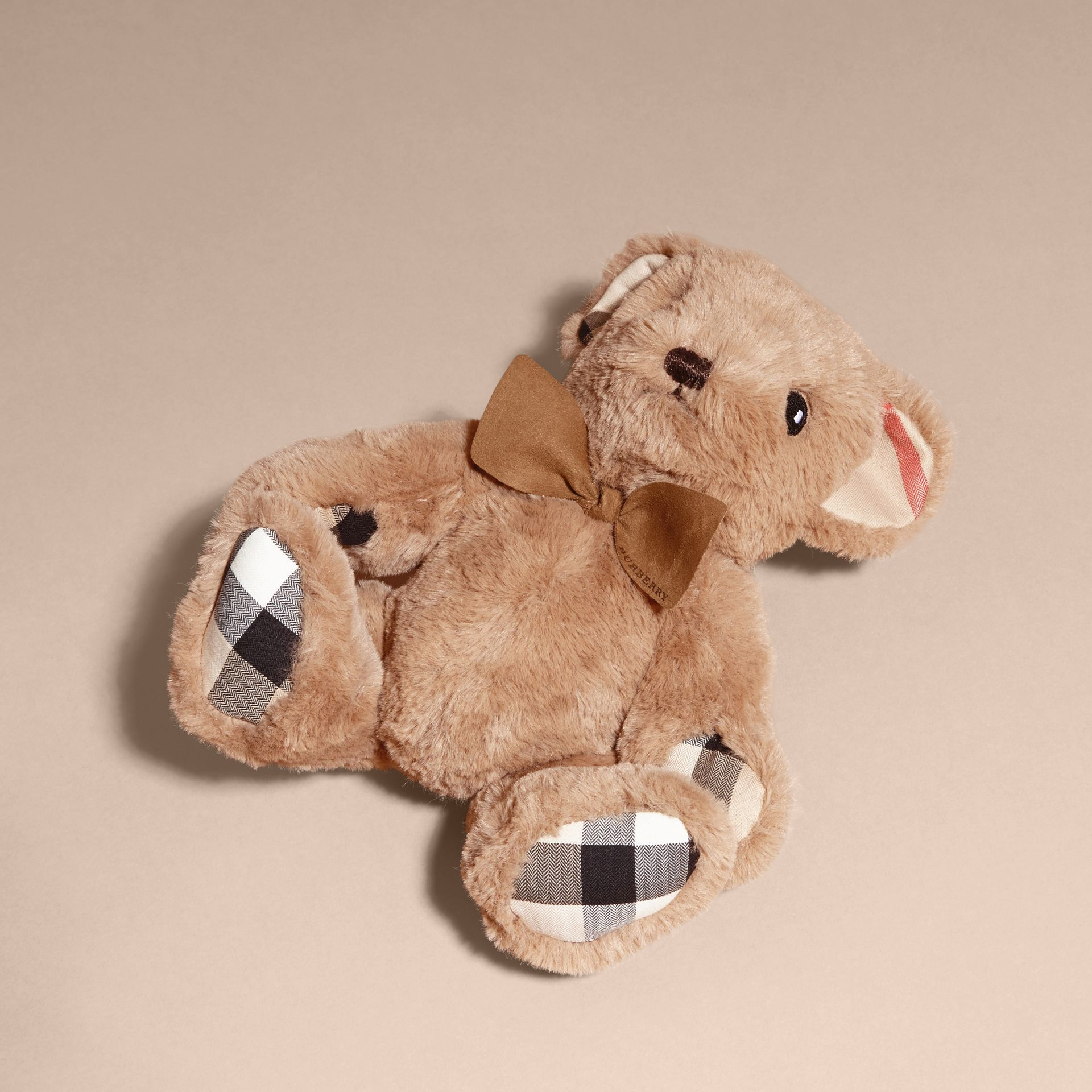 Thomas Baby Bear with Check Detail in Camel - Children | Burberry Australia - gallery image 3
