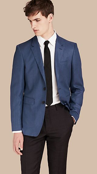 Modern Fit Linen Tailored Jacket
