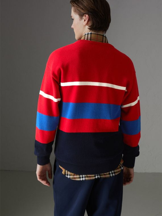 Reissued Lambswool Sweater in Red - Men | Burberry Hong Kong - cell image 2