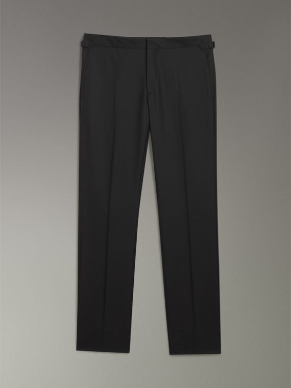 Modern Fit Wool Twill Suit in Black - Men | Burberry United States - cell image 3