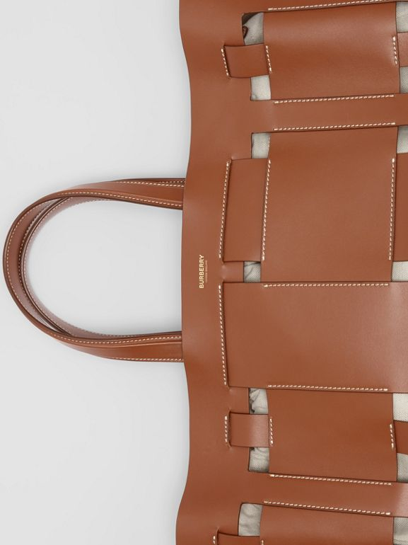 Large Leather Foster Tote in Malt Brown - Women | Burberry Singapore - cell image 1