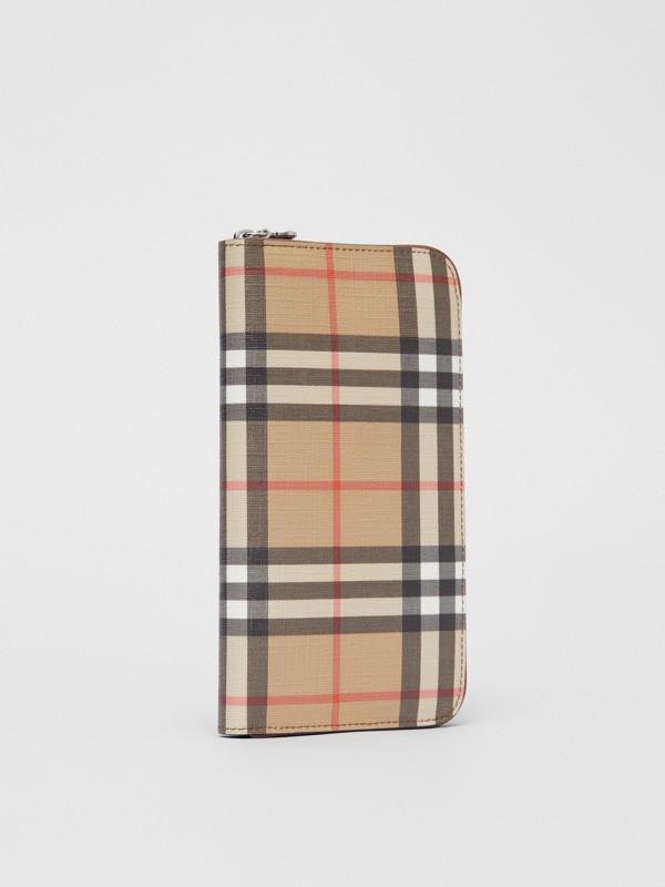 Бумажник из ткани e-canvas в клетку (Солодовый) - Для женщин | Burberry - cell image 3