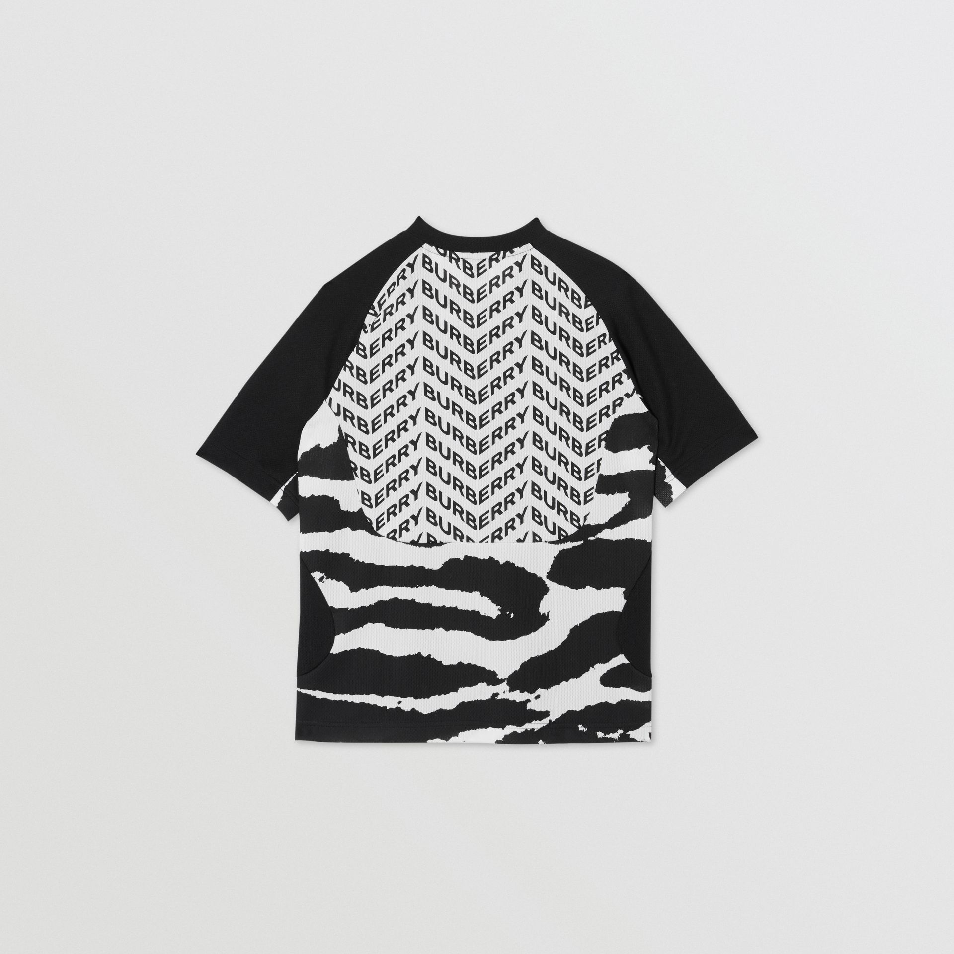 Kingdom Print Mesh T-shirt in Black | Burberry Canada - gallery image 3