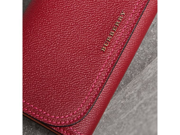 Colour Block Continental Wallet and Coin Case in Parade Red/multicolour - Women | Burberry - cell image 1