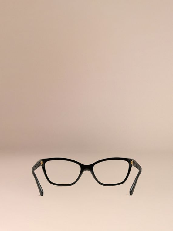 Check Detail Cat-eye Optical Frames Black - cell image 3