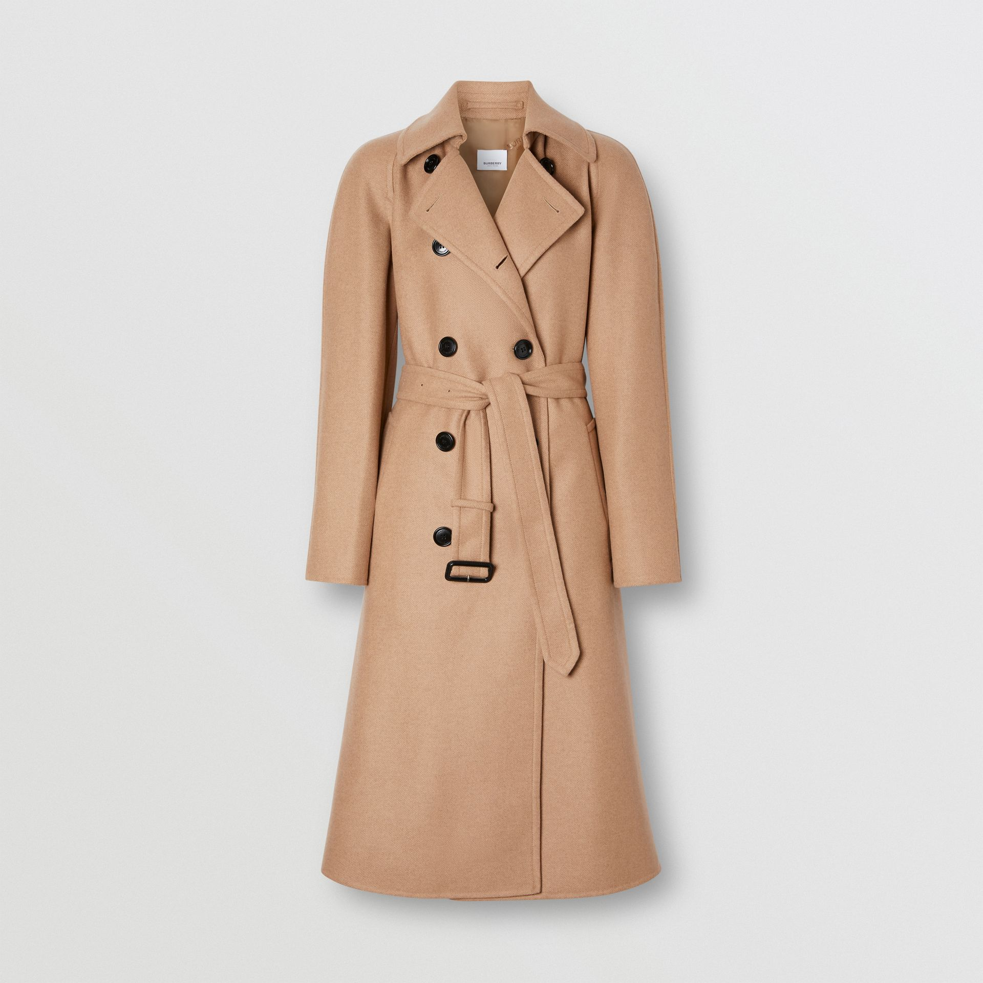 Double-faced Cashmere Trench Coat in Camel - Women | Burberry - gallery image 3