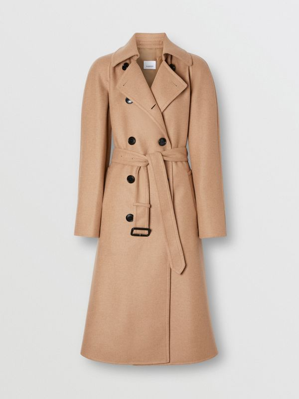 Double-faced Cashmere Trench Coat in Camel - Women | Burberry - cell image 3