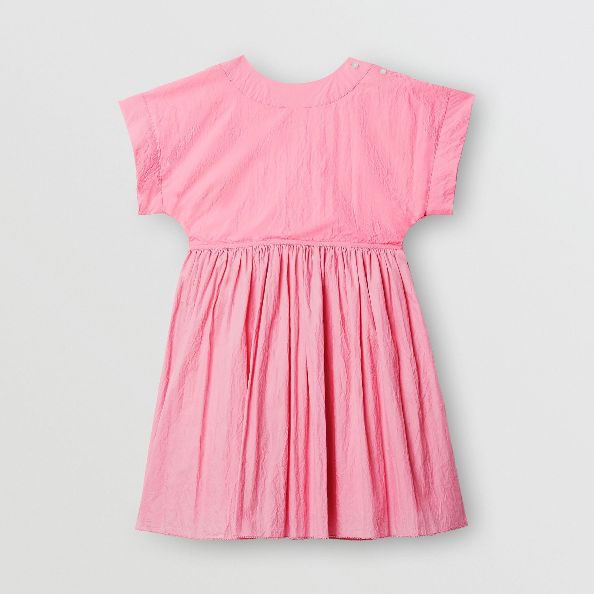 Cotton Blend Wrap Dress in Bright Rose | Burberry - gallery image 3