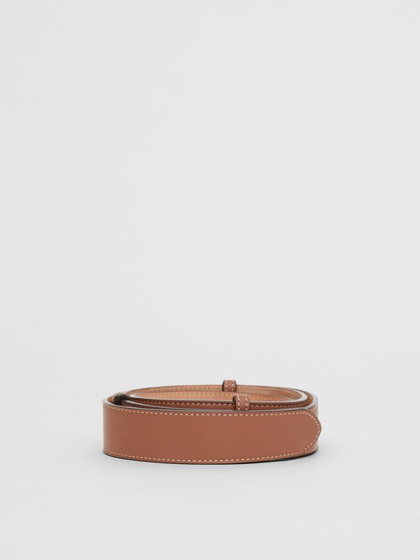 Triple Stud Leather Belt in Malt Brown - Women | Burberry - cell image 3