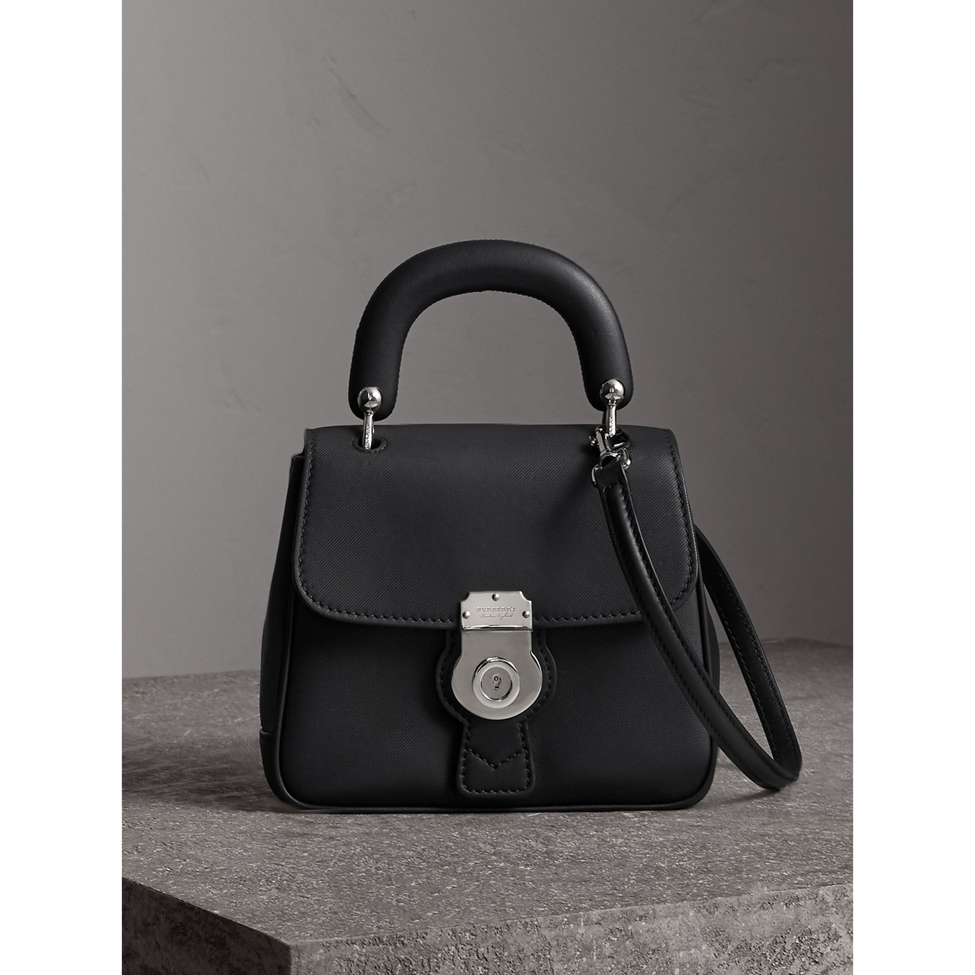 The Small DK88 Top Handle Bag in Black - Women | Burberry - gallery image 0