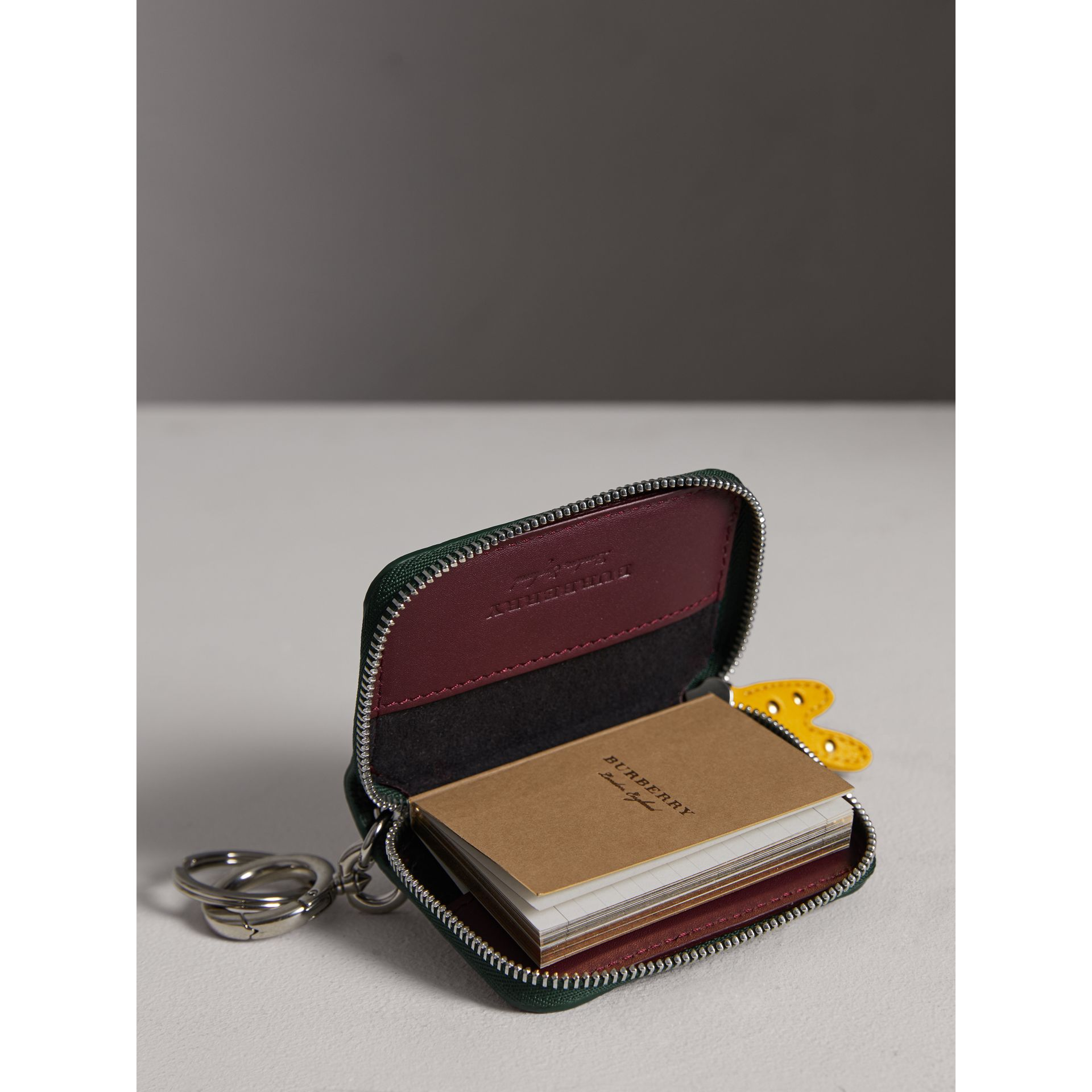 Creature Appliqué Leather Notebook Charm in Racing Green | Burberry - gallery image 3