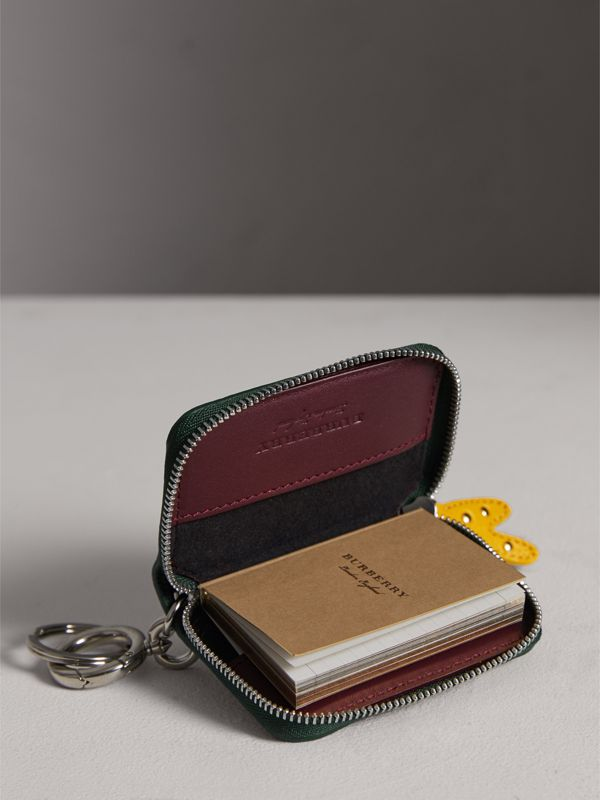 Creature Appliqué Leather Notebook Charm in Racing Green | Burberry - cell image 3