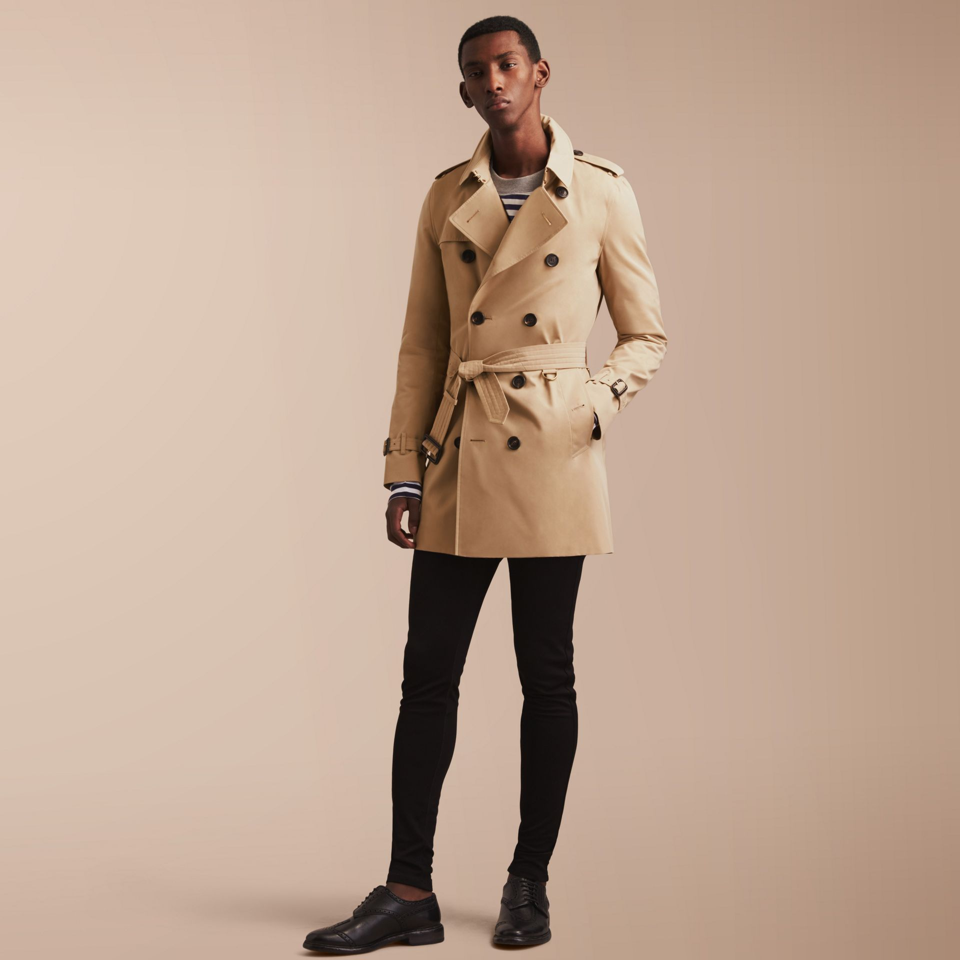 The Sandringham – Mid-length Heritage Trench Coat in Honey - Men | Burberry - gallery image 7