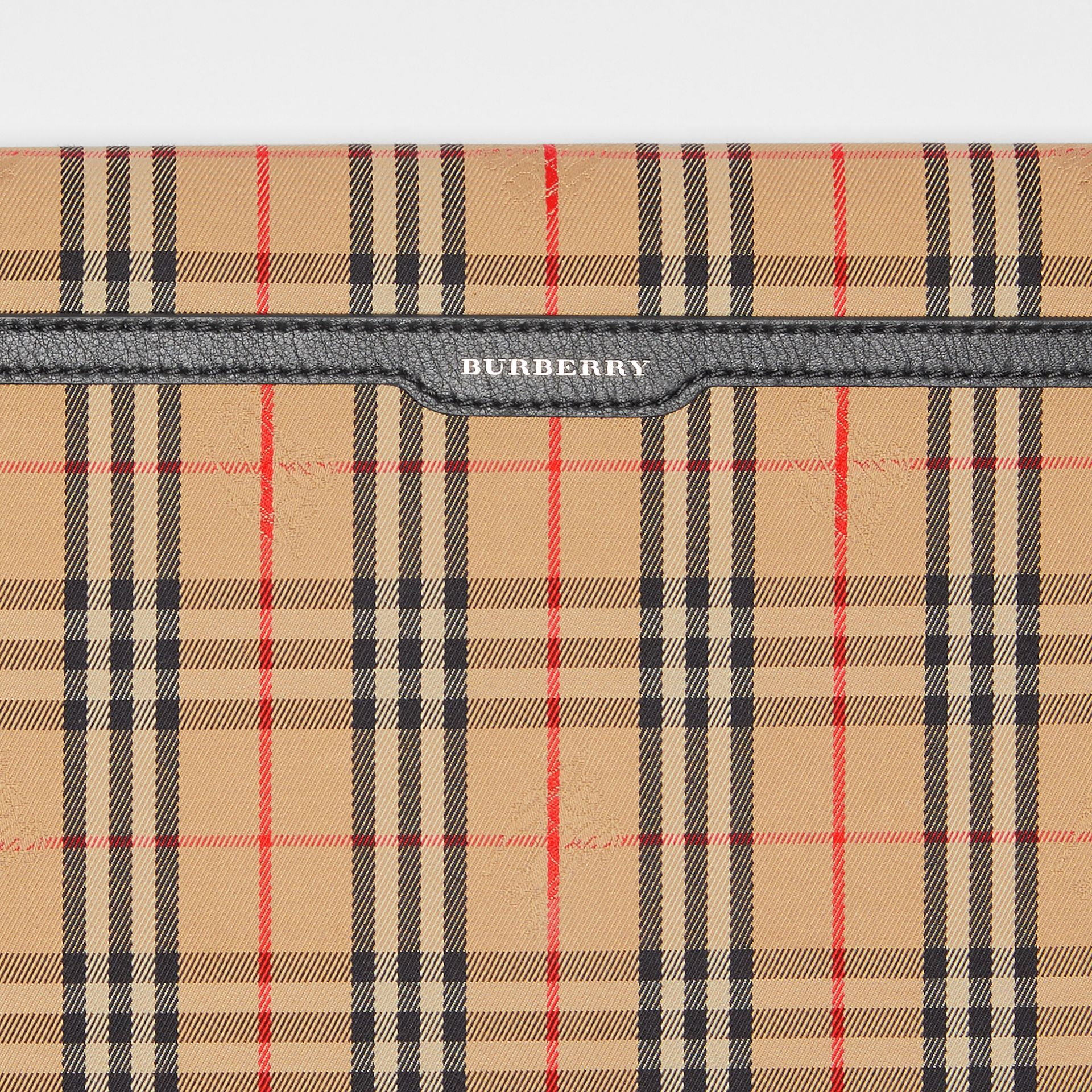Large 1983 Check Envelope Pouch in Black - Women | Burberry - gallery image 1