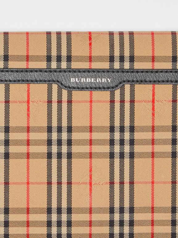 Large 1983 Check Envelope Pouch in Black - Women | Burberry United Kingdom - cell image 1