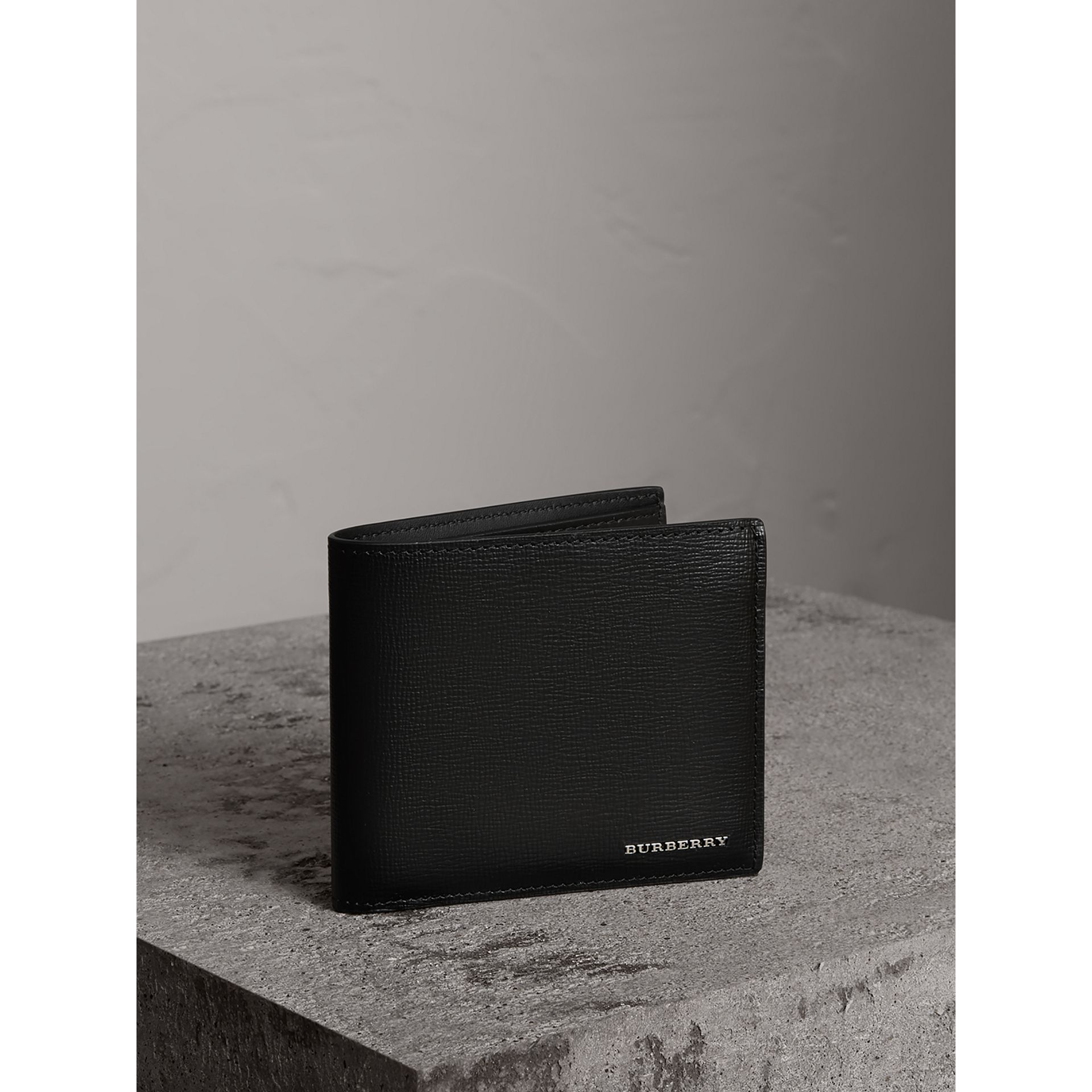 London Leather International Bifold Wallet in Black | Burberry United Kingdom - gallery image 0