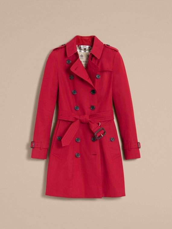 The Chelsea – Mid-length Heritage Trench Coat in Parade Red - cell image 3