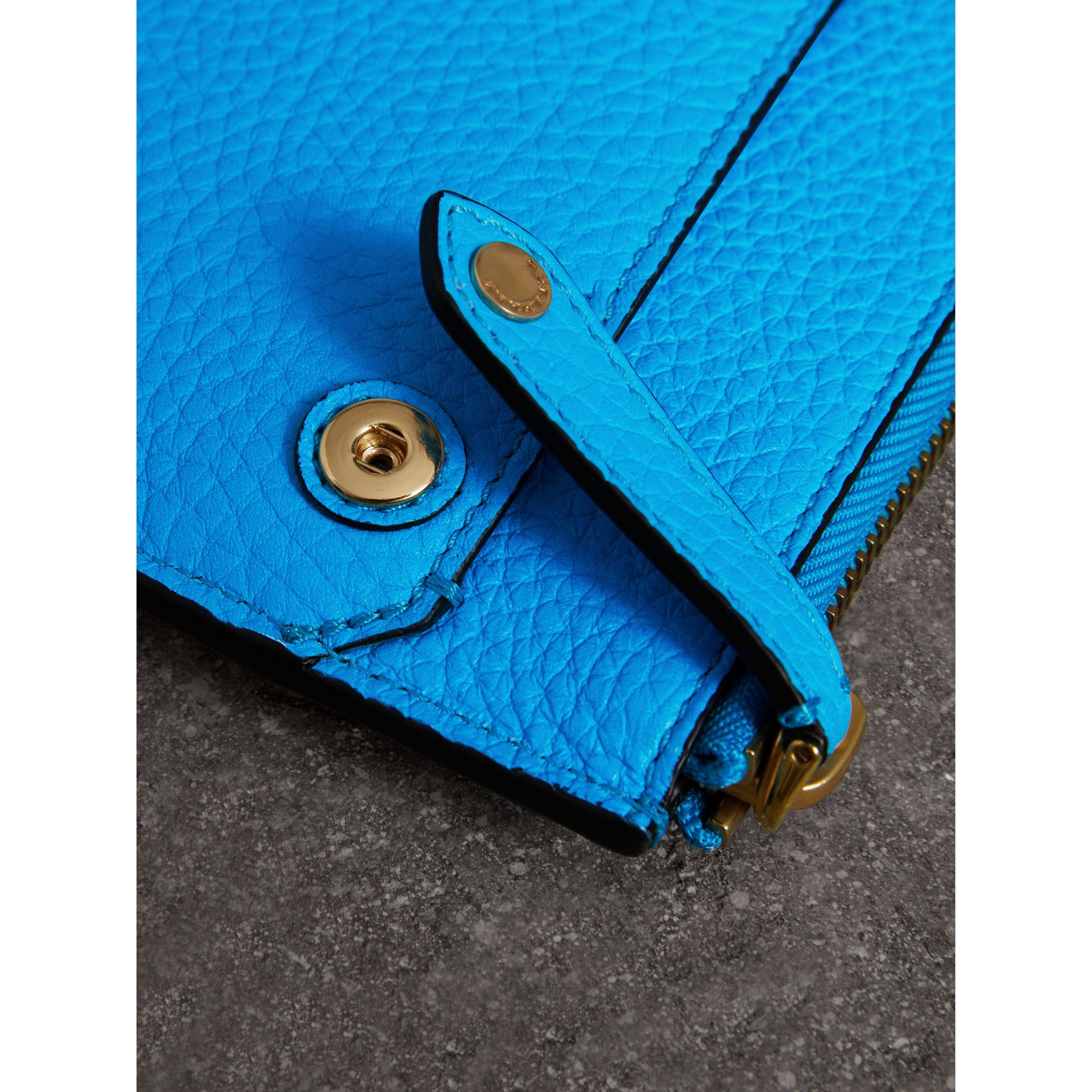 Embossed Leather Document Case in Neon Blue - Men | Burberry Australia - gallery image 1