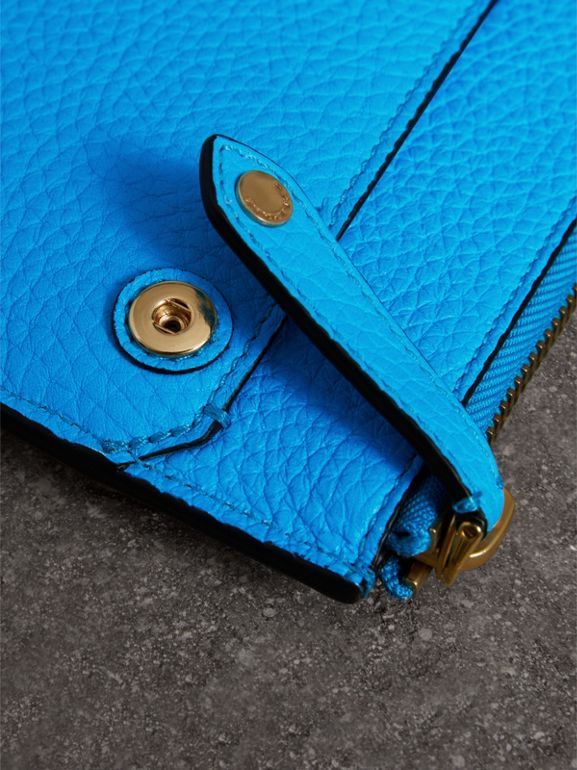 Embossed Leather Document Case in Neon Blue - Men | Burberry - cell image 1