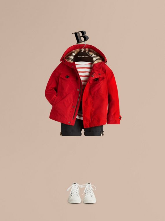 Hooded Field Jacket Military Red