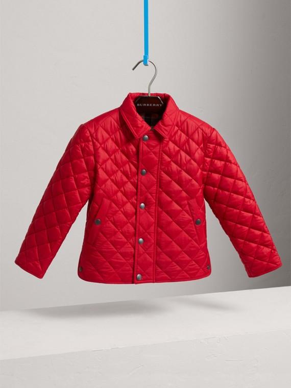 Стеганая куртка (Ярко-красный Вишневый)
