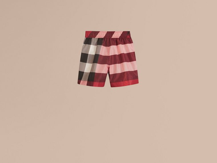 Short de bain à motif check (Rouge Parade) - Garçon | Burberry - cell image 2